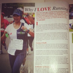My running story published in Modern Athlete:)